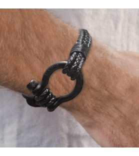 BRACELET BLACK TOUCH MAN'S...